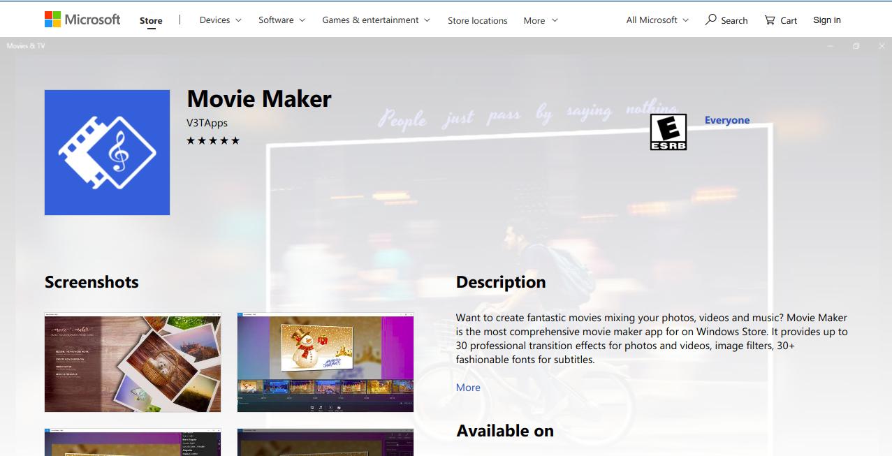 Movie Maker for Windows 10